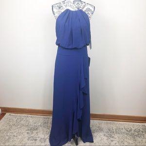 Eliza J Blue Halter Gown Size 6 NWT